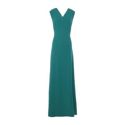 ALEX VIDAL ロングワンピース&ドレス グリーン 38 ポリエステル 100% ロングワンピース&ドレス