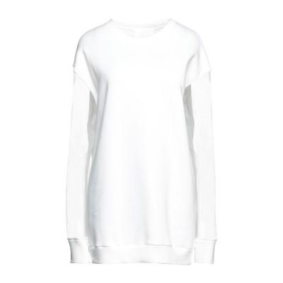 MEIMEIJ スウェットシャツ ホワイト 40 コットン 100% / ナイロン スウェットシャツ