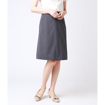 【ニューヨーカー/NEWYORKER】 【ウォッシャブル】ウールストライプ Aラインスカート