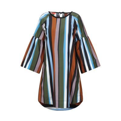 SMARTEEZ ミニワンピース&ドレス ミリタリーグリーン 40 コットン 100% ミニワンピース&ドレス