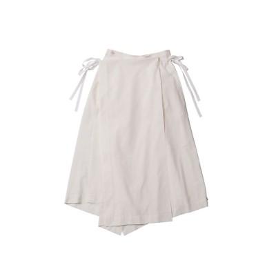 <beautiful people/ビューティフルピープル> cotton sheets cloth irregular hem skirt off white【三越伊勢丹/公式】