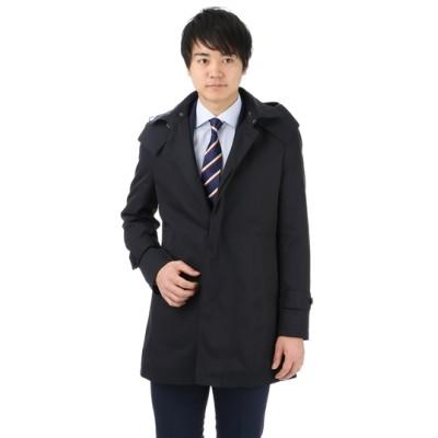 フード付ステンカラースプリングコート【合繊】