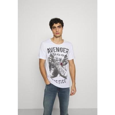 メンズ ファッション LIBERATE ROUND - Print T-shirt - white