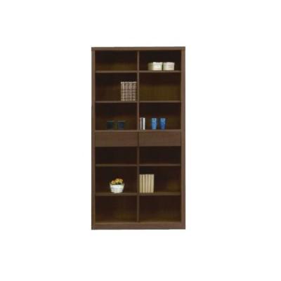 フリーボード 本棚 書棚 90 ブラウン 飾り棚 リビング収納 完成品