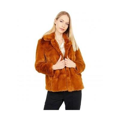 Madewell レディース 女性用 ファッション アウター ジャケット コート Iman Cropped Faux Fur Jacket - Golden Pecan