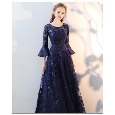 韓国風 レディース 結婚式 二次会 ウェディングドレス 着痩せ お呼ばれドレス パーティードレス 披露宴 お嬢様 ワンピース イブニングドレス ロングドレス