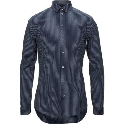 パトリツィア ペペ PATRIZIA PEPE メンズ シャツ トップス Striped Shirt Dark blue
