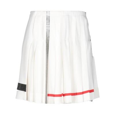 VERSACE ミニスカート ホワイト 42 シルク 100% ミニスカート