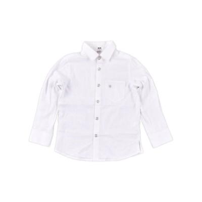 【べべオンラインストア】 ストライプジャカードシャツ(110cm~130cm) キッズ ホワイト系 120cm BEBE ONLINE STORE