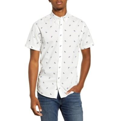 ボノボス メンズ シャツ トップス Riviera Slim Fit Short Sleeve Button-Down Sport Shirt BUTTERFLY PINK CARMN