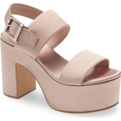 ジェフリー キャンベル JEFFREY CAMPBELL レディース サンダル・ミュール シューズ・靴 Moody Platform Sandal Taupe Satin