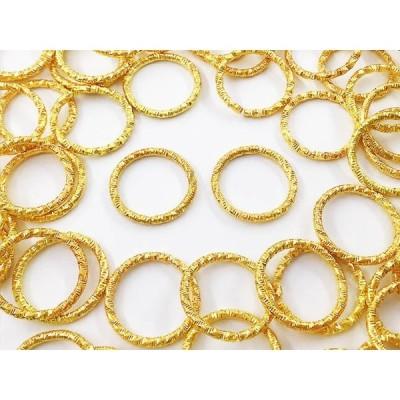 デザイン丸カン ゴールド 18mm 100個 デザインカン ゴールド 丸カン ハンドメイドパーツ マルカン 金具 アクセサリーパーツ AP0883