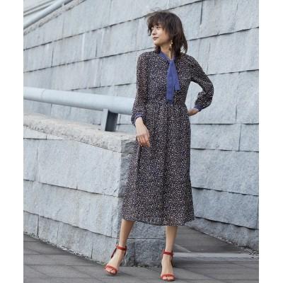 【Callarus】幾何学柄使いボウタイデザインワンピースドレス 【Callarus】 【謝恩会・パーティドレス】Dress