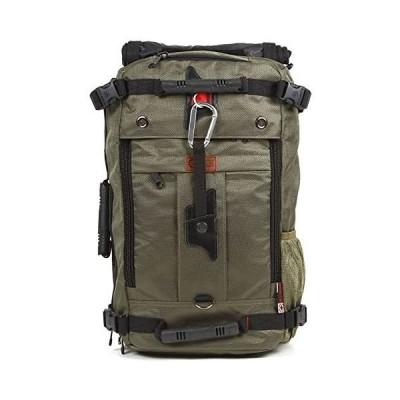 World Travel Equipment 3WAYバックパック 四角いからとにかくたくさん入る大容量 (アーミーグリーン Medium)