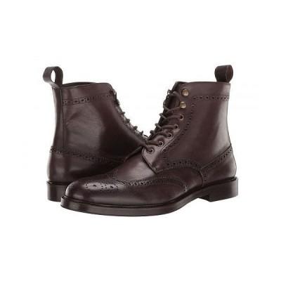 eleventy メンズ 男性用 シューズ 靴 ブーツ レースアップ 編み上げ Wing Tip Lace-Up Boot - Dark Brown