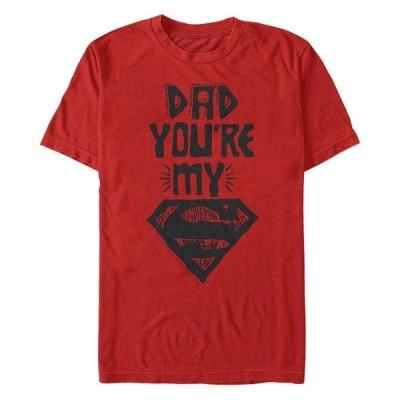 フィフスサン Tシャツ トップス メンズ DC Men's Dad You're My Superman Short Sleeve T-Shirt Red