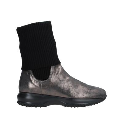 ホーガン HOGAN ショートブーツ 鉛色 34.5 革 / オパール ショートブーツ