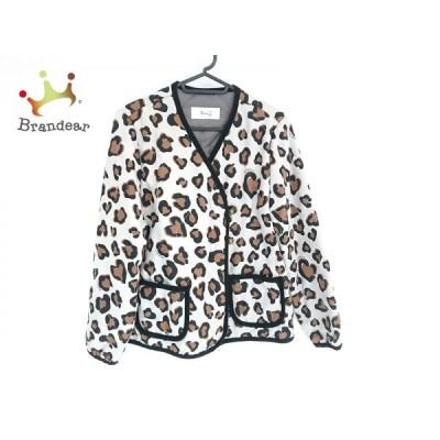 ニーナミュウ ダウンジャケット サイズF レディース - ベージュ×黒×ブラウン 長袖/豹柄/冬 新着 20200228