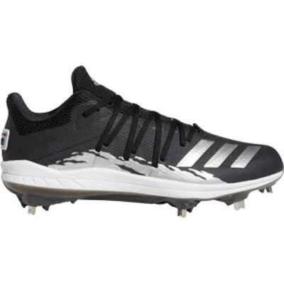 アディダス メンズ スニーカー シューズ adidas Men's adizero Afterburner 6 Speed Trap Baseball Cleats Black/Silver