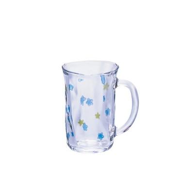 石塚硝子 ISHIZUKA GLASS アデリアグラス ADERIA GLASS ののはなマグ マグカップ 310ml ブルー 7550
