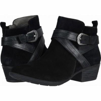 カルソーアースシューズ Earth レディース ブーツ シューズ・靴 Peak Porter Black Premium Cow Suede/Soft Calf