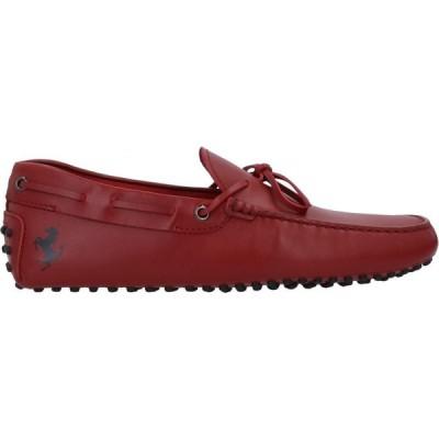 トッズ TOD'S for FERRARI メンズ ローファー シューズ・靴 loafers Red