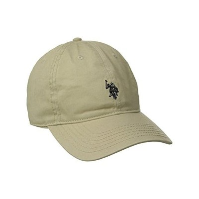 U.S. Polo Assn. Men's Washed Twill Baseball Cap, 100% Cotton, Khaki, One Si