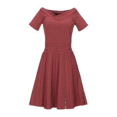 SANDRO ミニワンピース&ドレス ココア 40 レーヨン 51% / ナイロン 48% / ポリウレタン 1% ミニワンピース&ドレス