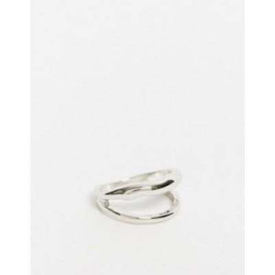 エイソス レディース 指輪 アクセサリー ASOS DESIGN double ring in silver tone Silver