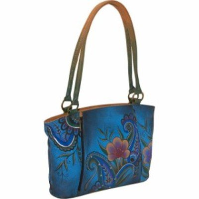 ANNA by Anuschka  ファッション バッグ ANNA by Anuschka Large Organizer Tote- Denim Paisley Leather Handbag NEW