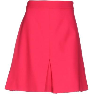 BOUTIQUE MOSCHINO ひざ丈スカート フューシャ 38 ポリエステル 54% / バージンウール 44% / 指定外繊維 2% ひざ丈