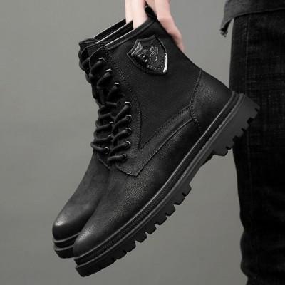 メンズブーツ 靴 シューズ エンジニアブーツ マーティンブーツ アウトドア ワークブーツ ショートブーツレースアップ 男性用靴 快適 紳士靴 カジュアル 本革