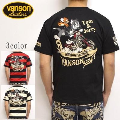 バンソン VANSON TOM and JERRY TJV-911 半袖Tシャツ 天竺半袖TEE  トム&ジェリー トップス メンズ