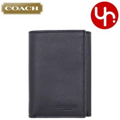【最大3,000円クーポン】コーチ COACH  財布 三つ折り財布 F23845 23845 ブラック アウトレット メンズ