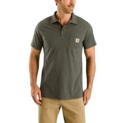 カーハート メンズ シャツ トップス Carhartt Men's Force Cotton Delmont Pocket Polo Moss