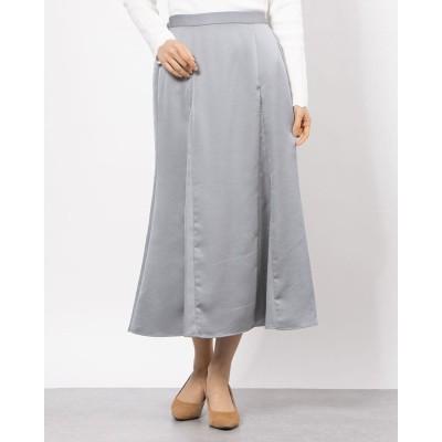 ルクールブランアウトレット le.coeur blanc outlet ビンテージサテンマーメイドスカート (サックス)