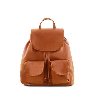 Tuscany Leather Seoul - Leather Backpack Small Size - TL141508 (Cognac) 並行輸入品