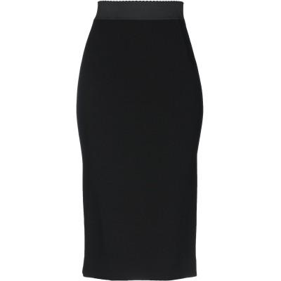 ドルチェ & ガッバーナ DOLCE & GABBANA 7分丈スカート ブラック 38 バージンウール 75% / ナイロン 23% / ポリウレ
