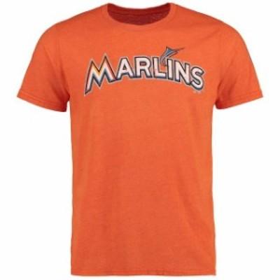 Majestic Threads マジェスティック スレッド スポーツ用品  Majestic Threads Miami Marlins Orange Premium Tri-Ble