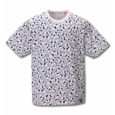 大きいサイズ メンズ クレヨンしんちゃん 総柄 プリント 半袖 Tシャツ ピンク 1278-0517-1 3L 4L 5L 6L 8L