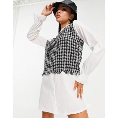 アイソウイット ミニドレス レディース I Saw It First 2 in 1 collar detail contrast shirt dress with in multi エイソス ASOS マルチカラー