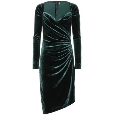 ノーマ カマリ Norma Kamali レディース ワンピース ワンピース・ドレス asymmetric velvet dress Forest Green