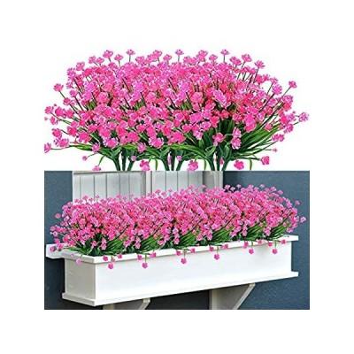 TEMCHY 20 Bundles Outdoor Artificial Fake Flowers No Fade UV Resistant Faux好評販売中