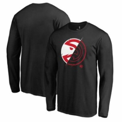 Fanatics Branded ファナティクス ブランド スポーツ用品  Fanatics Branded Atlanta Hawks Black X-Ray Long Sleeve T