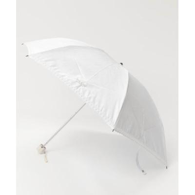 MOONBAT / 日傘 【フラワー ボーダー】 WOMEN ファッション雑貨 > 折りたたみ傘