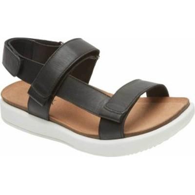 ロックポート レディース サンダル シューズ Women's Rockport Kells Bay 2 Piece Slingback Sandal Black Leather