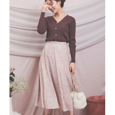 Noela / コンビフラワーロングスカート WOMEN スカート > スカート