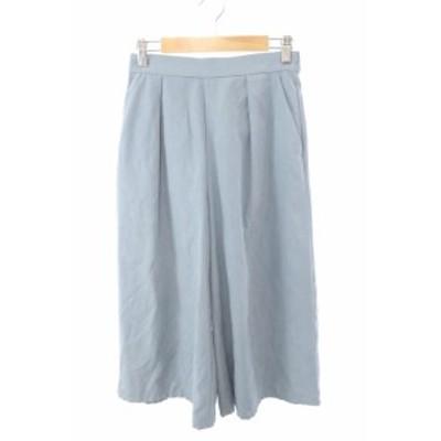 【中古】ビス ViS パンツ ワイド スカーチョ S 青 ブルー /AY35 レディース
