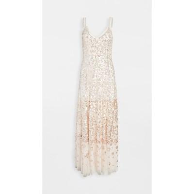 ニードル アンド スレッド Needle & Thread レディース パーティードレス ワンピース・ドレス Patchwork Sequin Cami Gown Ballet Slipper/Gold