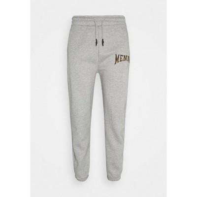 メンナス カジュアルパンツ メンズ ボトムス COLLEGIATE REGULAR UNISEX - Tracksuit bottoms - grey